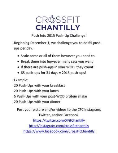 Push Into 2015 Push-Up Challenge