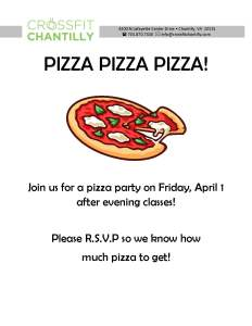 Pizza Party 4-1-16
